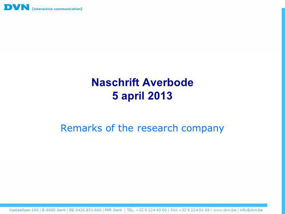 Naschrift Averbode 5 april 2013