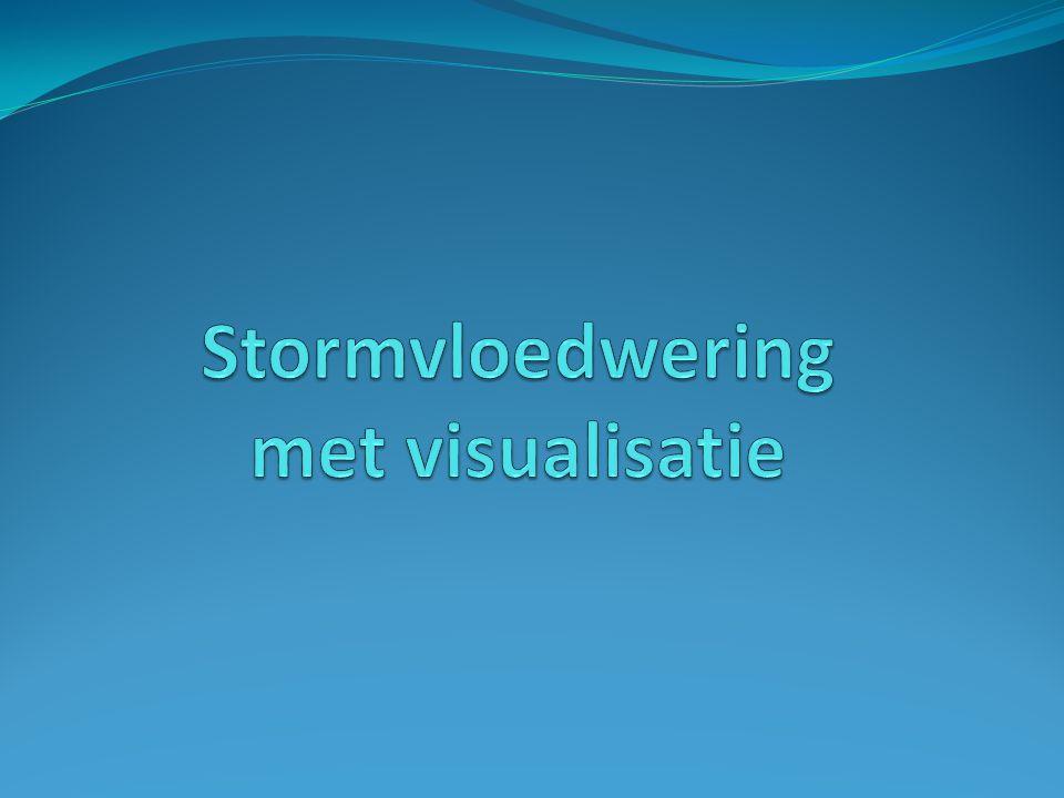 Stormvloedwering met visualisatie