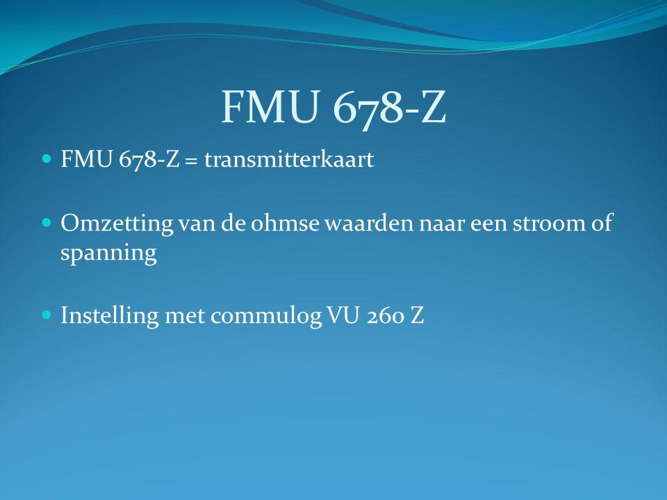 FMU 678-Z FMU 678-Z = transmitterkaart