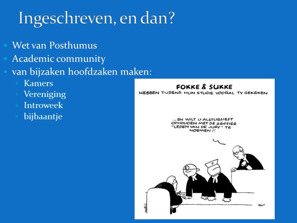 Ingeschreven, en dan Wet van Posthumus Academic community