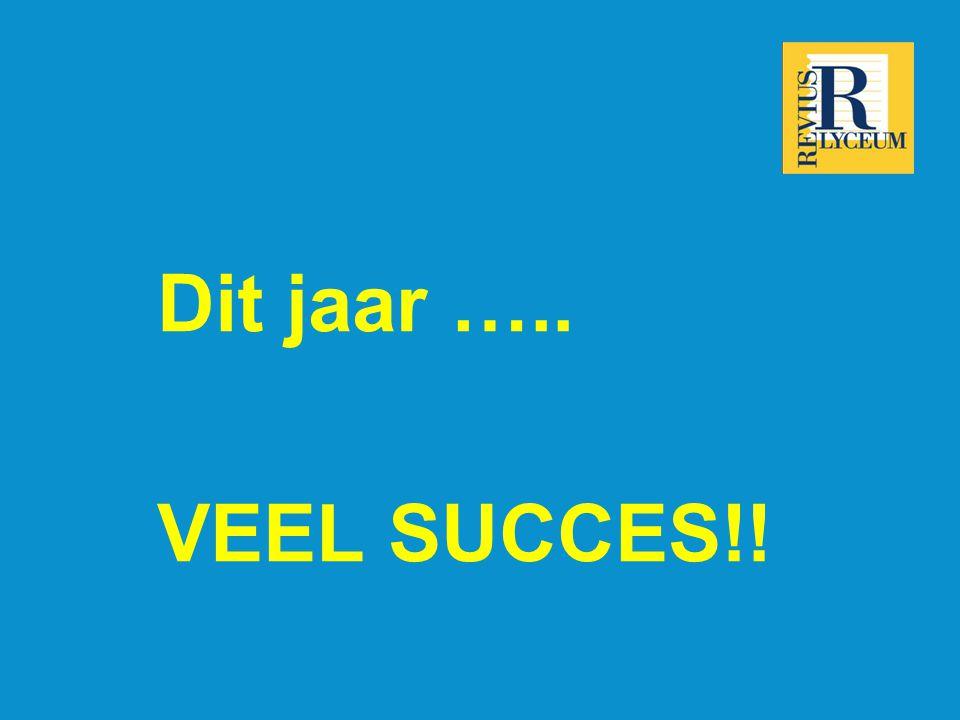 Dit jaar ….. VEEL SUCCES!!