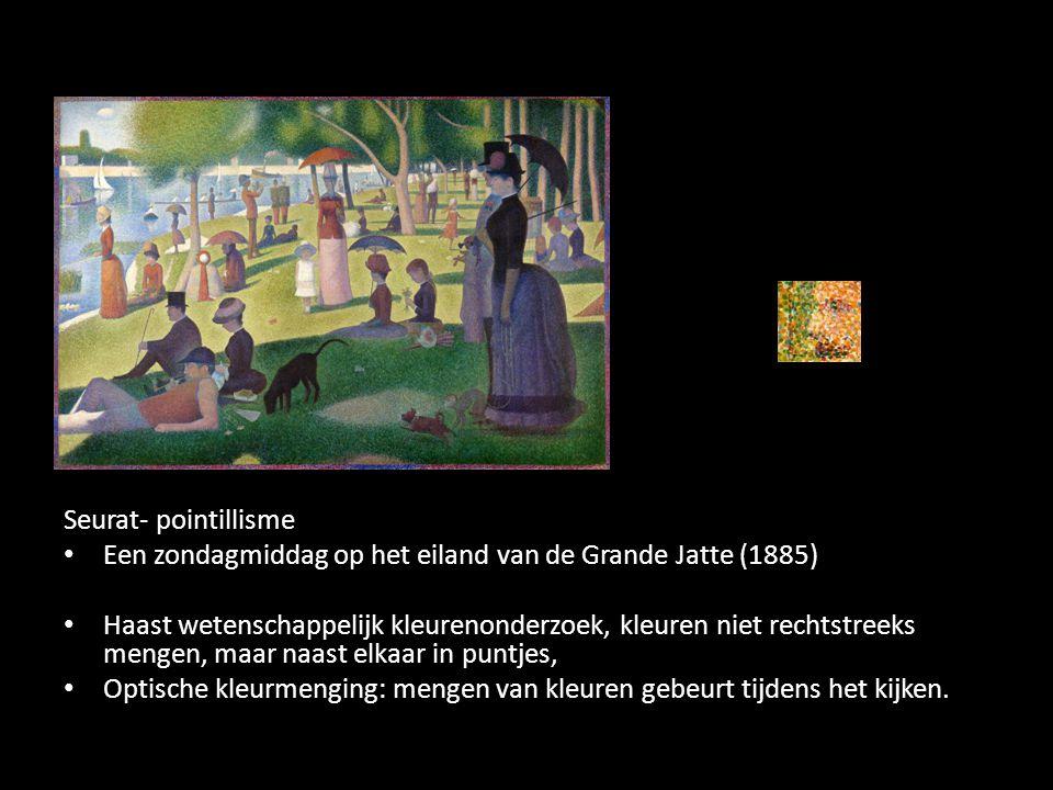 Seurat- pointillisme Een zondagmiddag op het eiland van de Grande Jatte (1885)