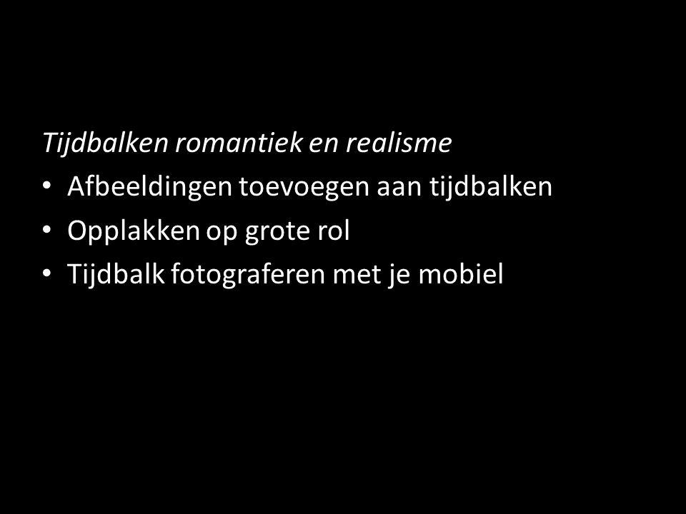 Tijdbalken romantiek en realisme