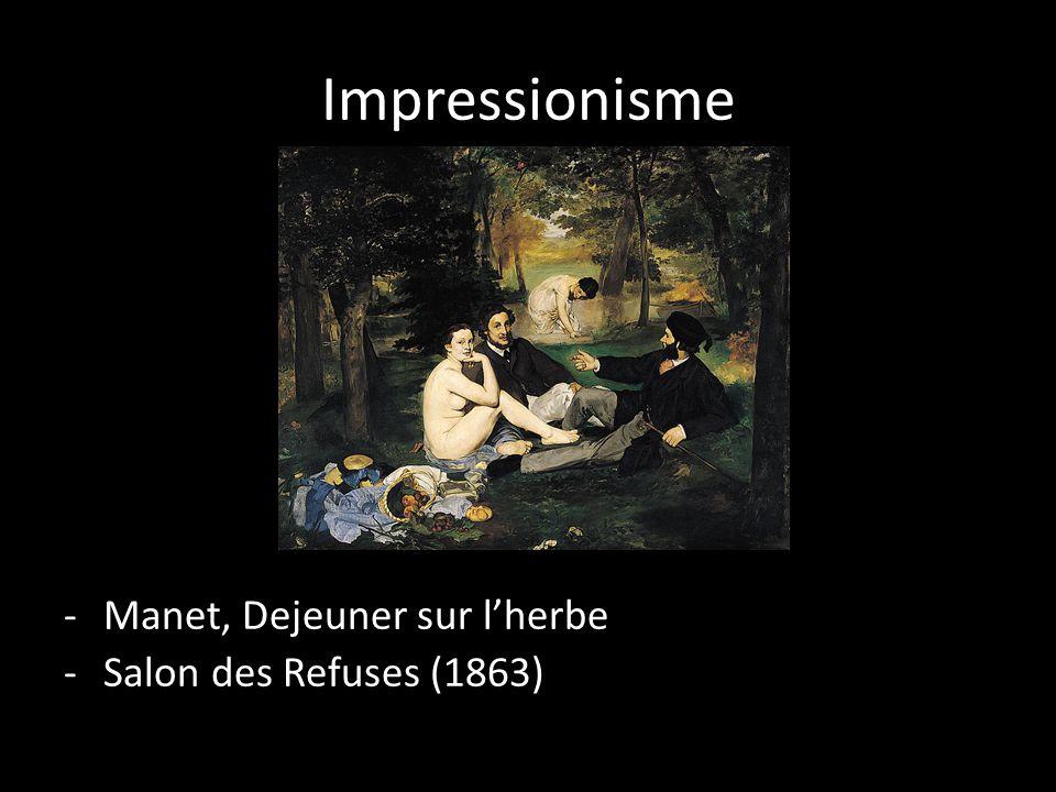 Impressionisme Manet, Dejeuner sur l'herbe Salon des Refuses (1863)