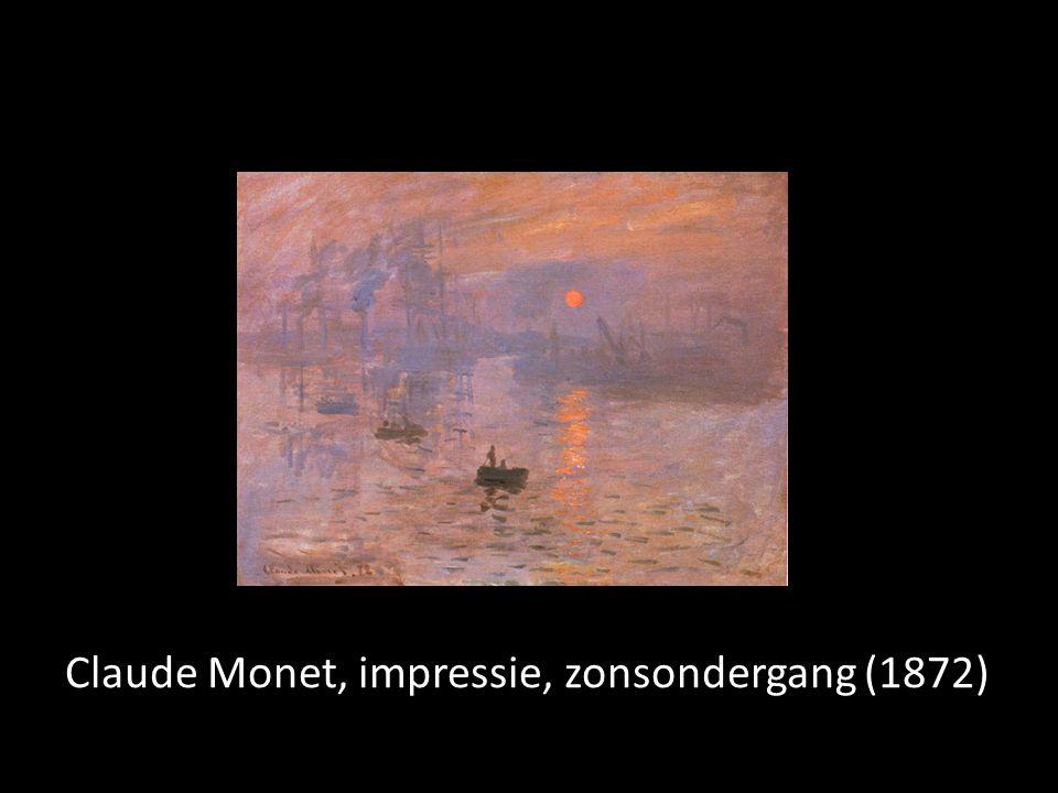 Claude Monet, impressie, zonsondergang (1872)