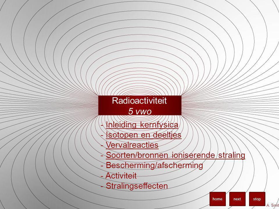 Radioactiviteit 5 vwo Inleiding kernfysica Isotopen en deeltjes