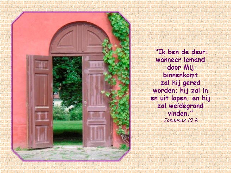 Ik ben de deur: wanneer iemand door Mij binnenkomt