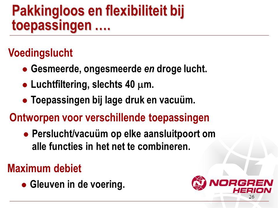 Pakkingloos en flexibiliteit bij toepassingen ….