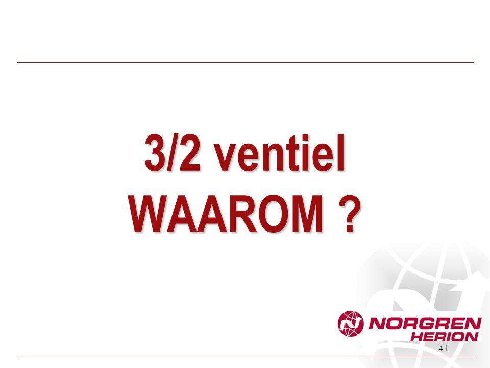 3/2 ventiel WAAROM