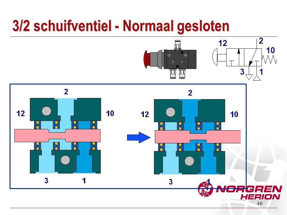 3/2 schuifventiel - Normaal gesloten
