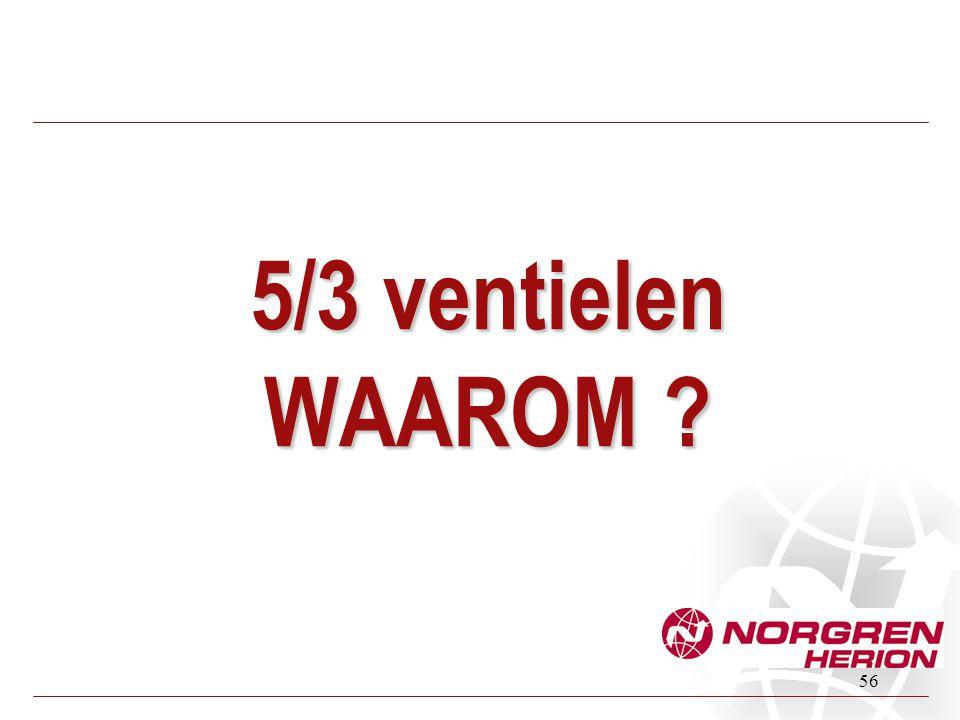 5/3 ventielen WAAROM