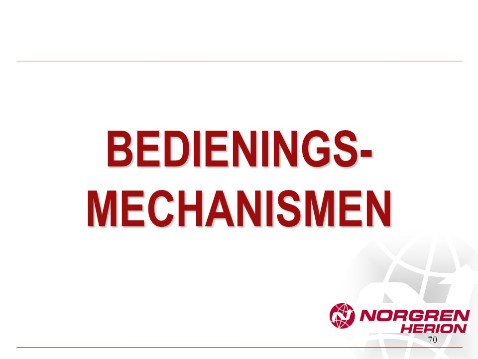 BEDIENINGS-MECHANISMEN