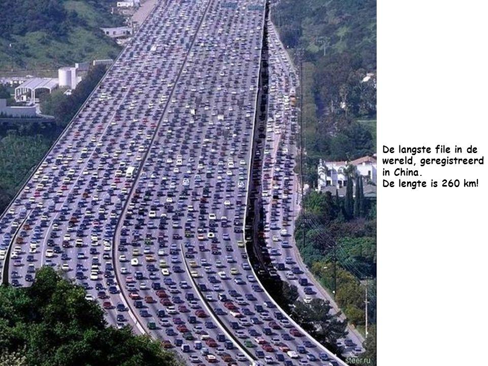 De langste file in de wereld, geregistreerd in China