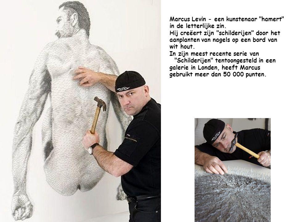 Marcus Levin - een kunstenaar hamert in de letterlijke zin