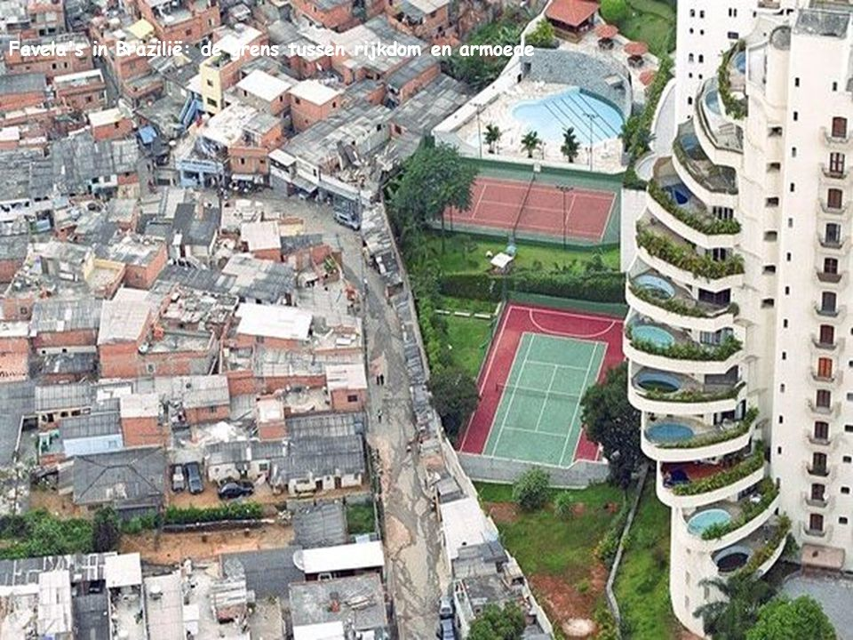 Favela s in Brazilië: de grens tussen rijkdom en armoede