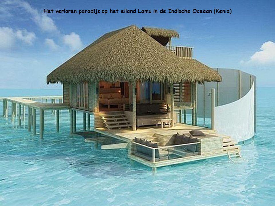 Het verloren paradijs op het eiland Lamu in de Indische Oceaan (Kenia)