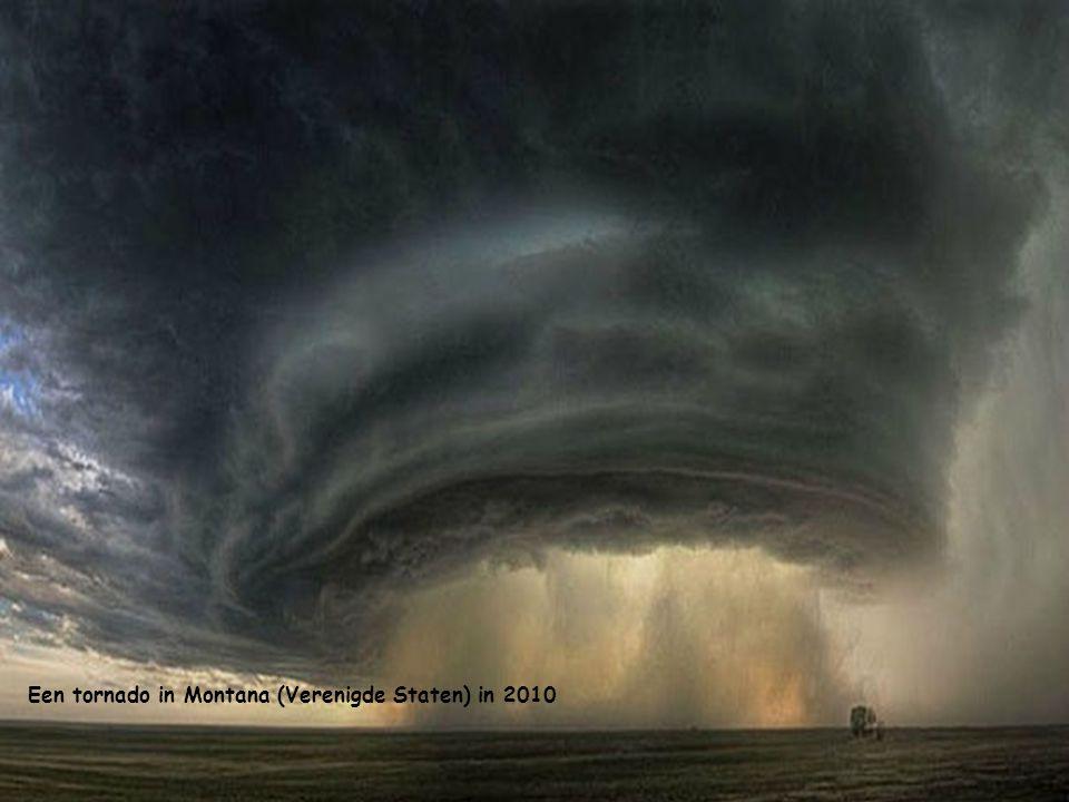 Een tornado in Montana (Verenigde Staten) in 2010