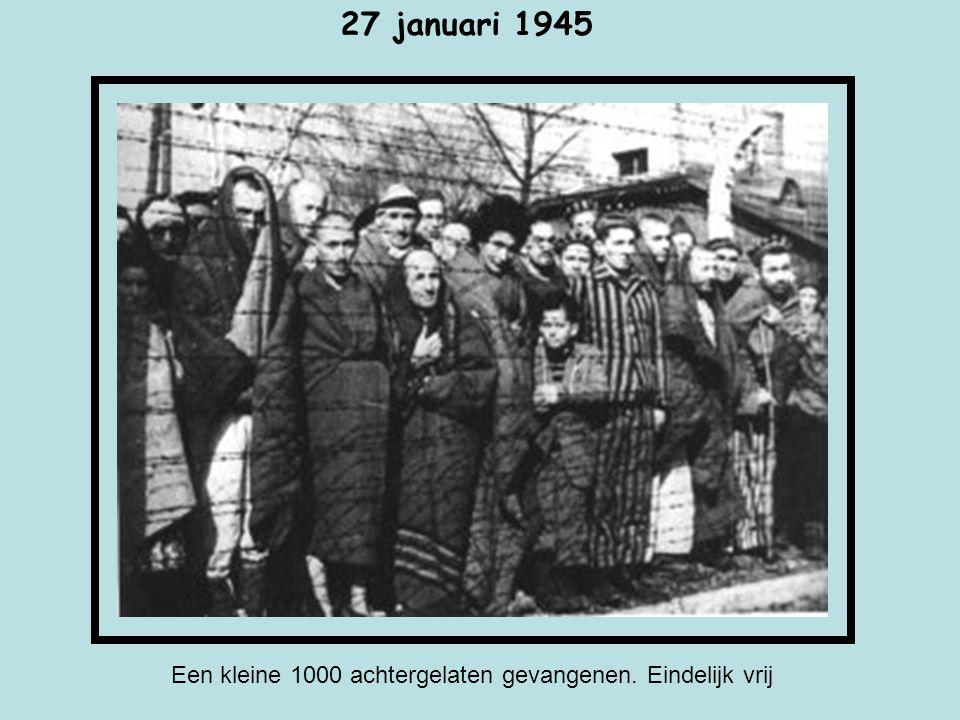 Een kleine 1000 achtergelaten gevangenen. Eindelijk vrij