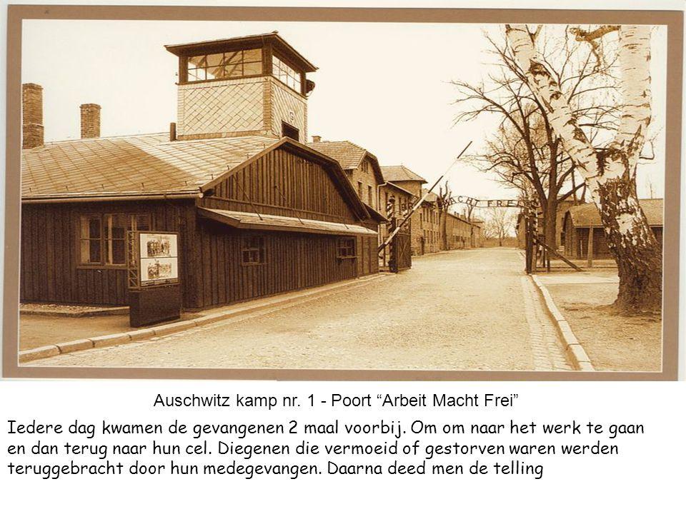 Auschwitz kamp nr. 1 - Poort Arbeit Macht Frei