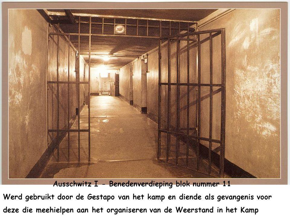 Ausschwitz I - Benedenverdieping blok nummer 11