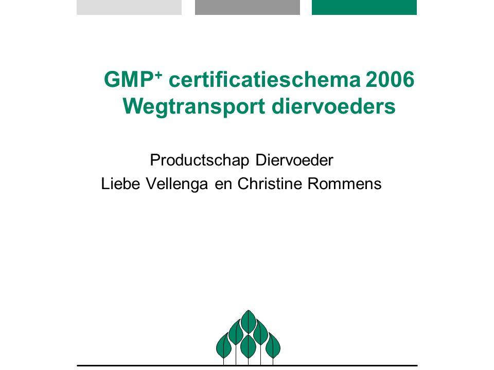 GMP+ certificatieschema 2006 Wegtransport diervoeders