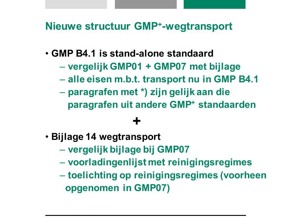 Nieuwe structuur GMP+-wegtransport