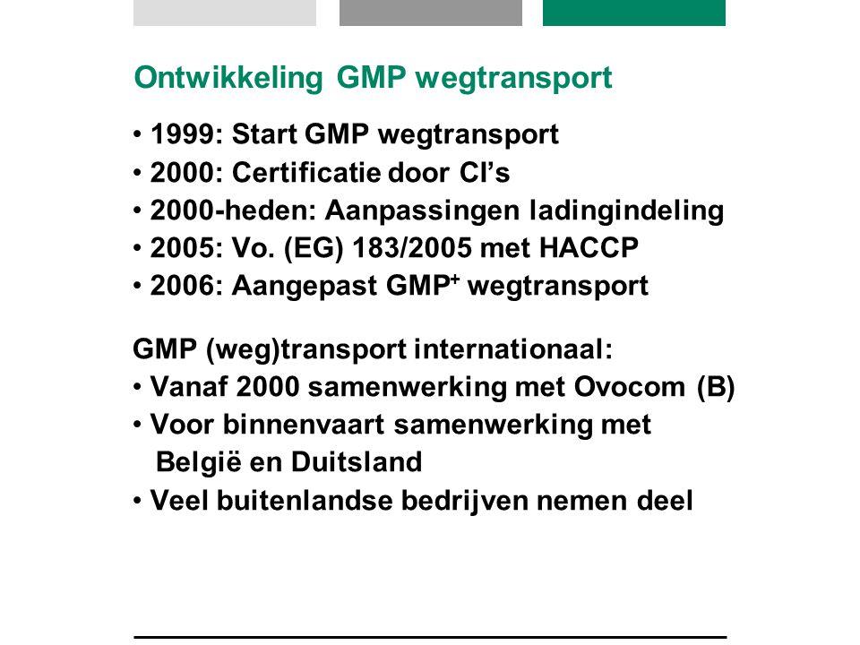 Ontwikkeling GMP wegtransport