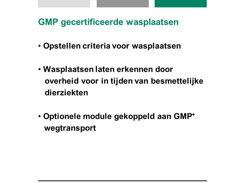 GMP gecertificeerde wasplaatsen