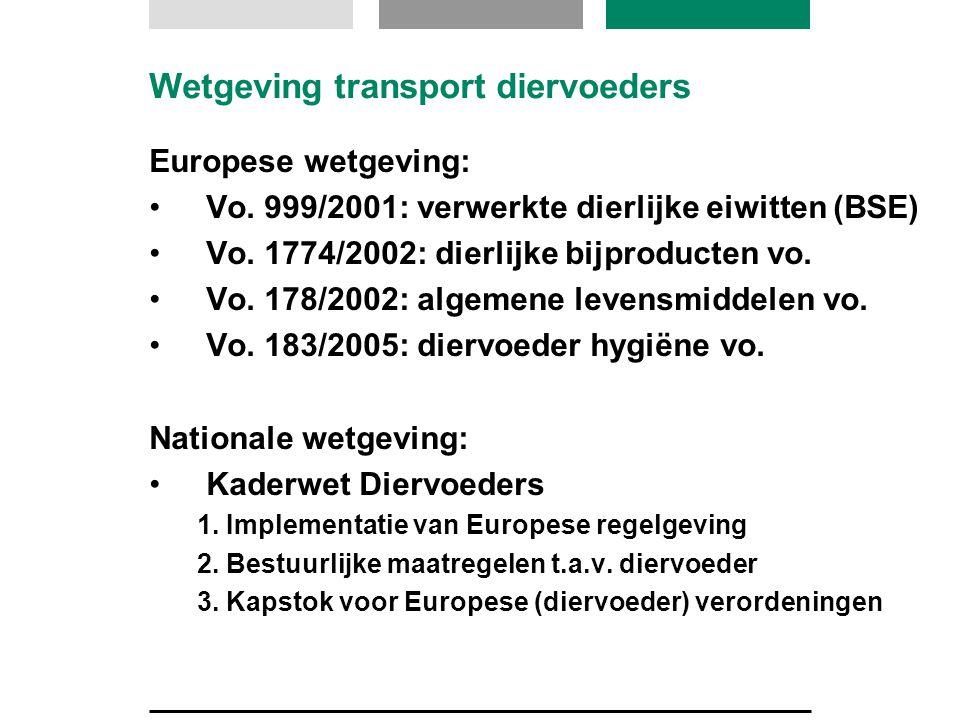 Wetgeving transport diervoeders