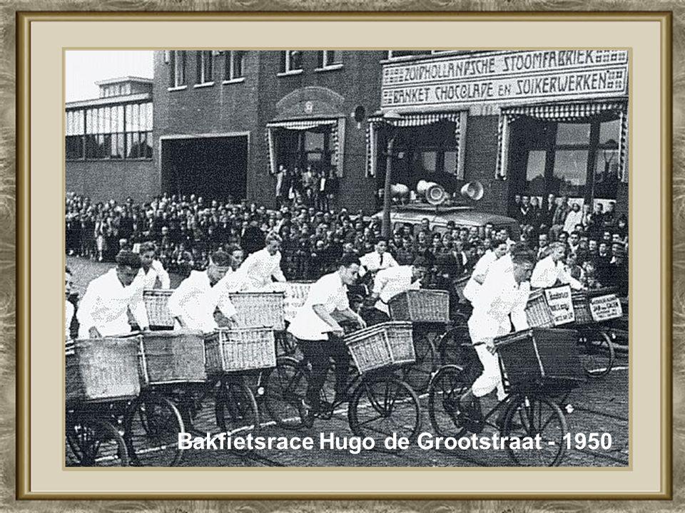 Bakfietsrace Hugo de Grootstraat - 1950