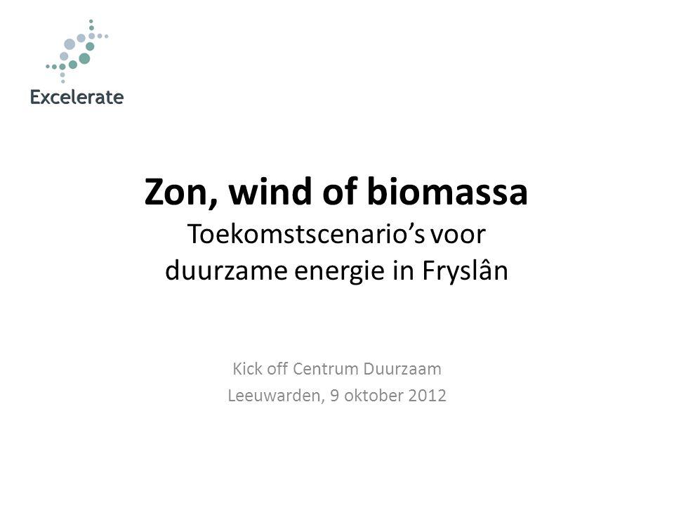 Kick off Centrum Duurzaam Leeuwarden, 9 oktober 2012