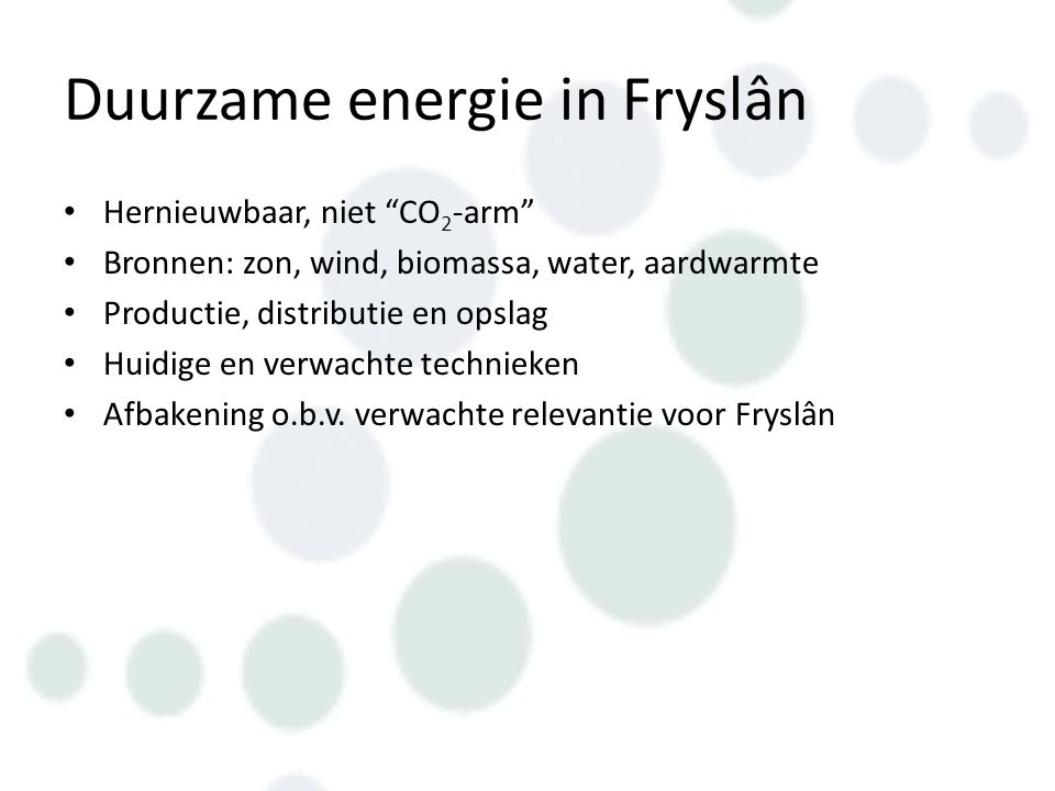 Duurzame energie in Fryslân