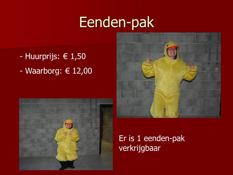 Eenden-pak Huurprijs: € 1,50 Waarborg: € 12,00