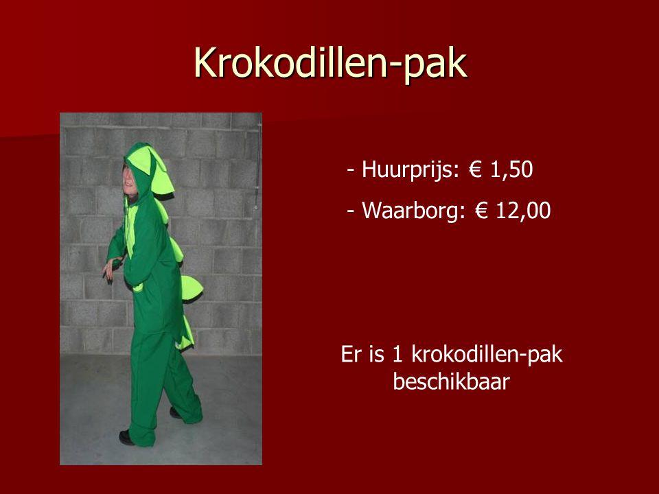 Er is 1 krokodillen-pak beschikbaar