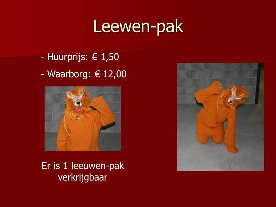 Er is 1 leeuwen-pak verkrijgbaar