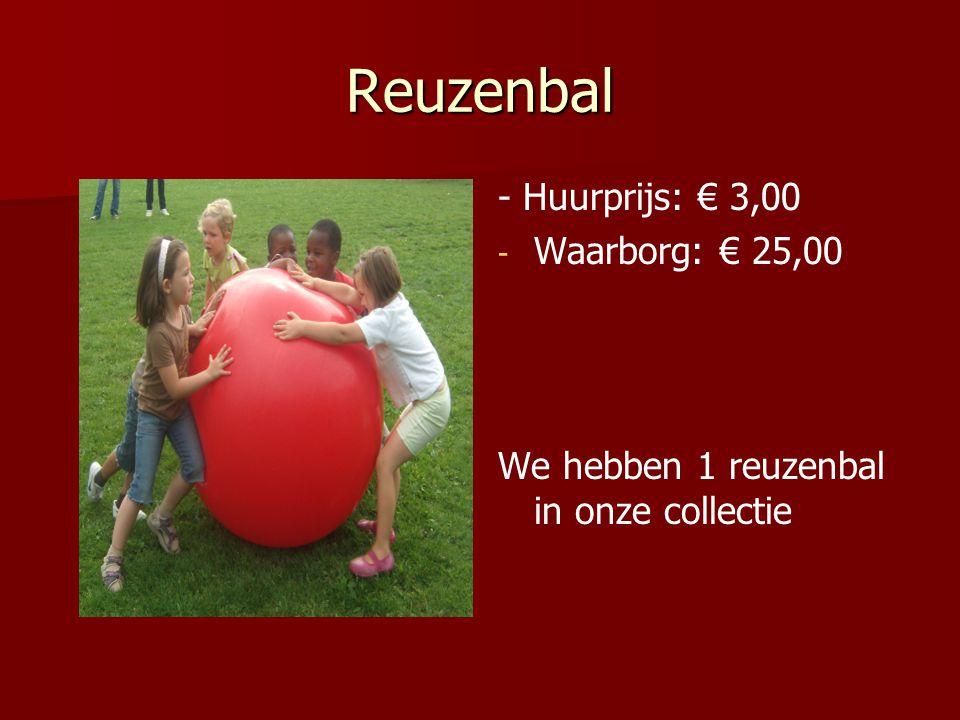 Reuzenbal - Huurprijs: € 3,00 Waarborg: € 25,00