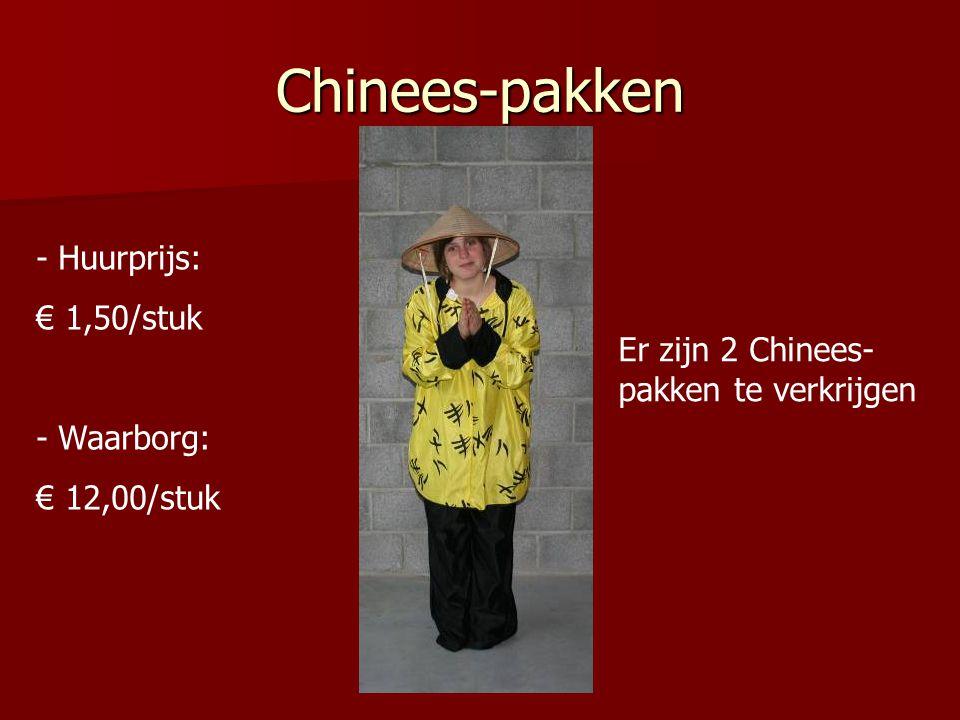 Chinees-pakken Huurprijs: € 1,50/stuk Waarborg: