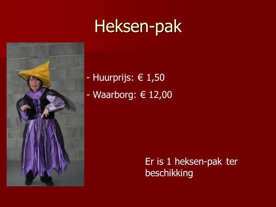 Heksen-pak Huurprijs: € 1,50 Waarborg: € 12,00