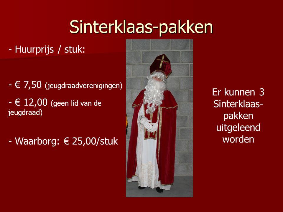 Er kunnen 3 Sinterklaas-pakken uitgeleend worden