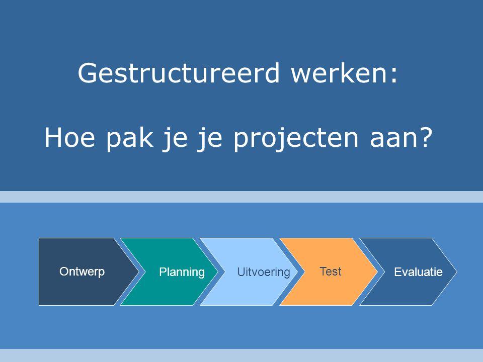 Gestructureerd werken: Hoe pak je je projecten aan