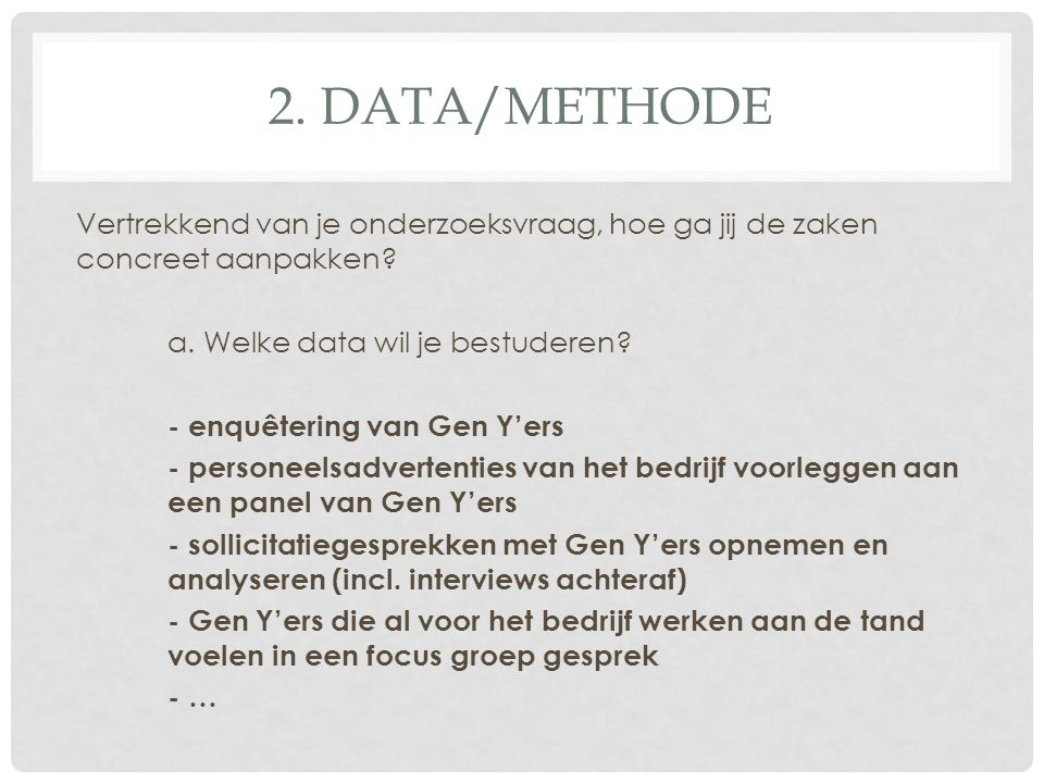 2. DATA/METHODE