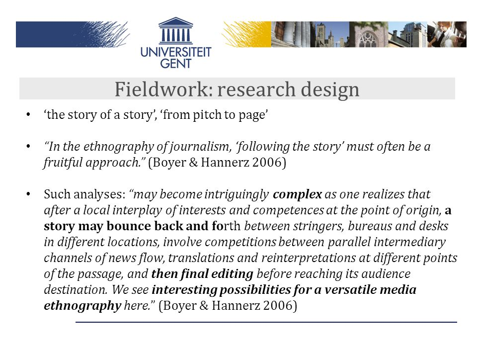 Fieldwork: research design