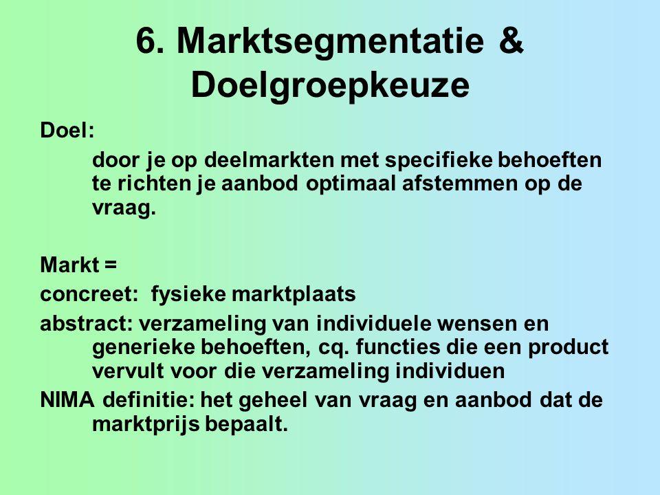 6. Marktsegmentatie & Doelgroepkeuze