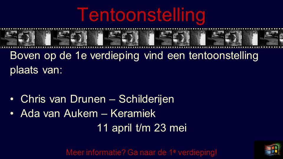 Meer informatie Ga naar de 1e verdieping!