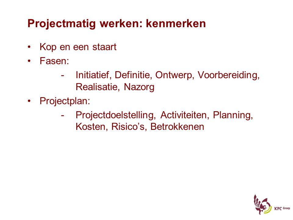 Projectmatig werken: kenmerken