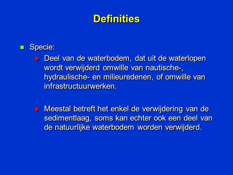 Definities Specie: