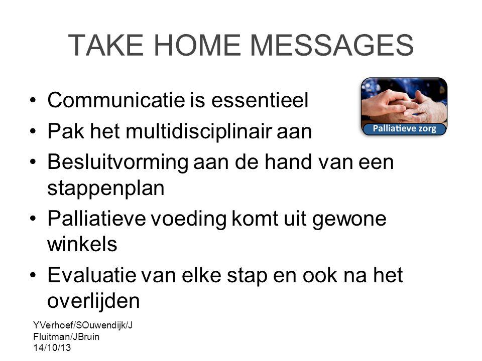 TAKE HOME MESSAGES Communicatie is essentieel