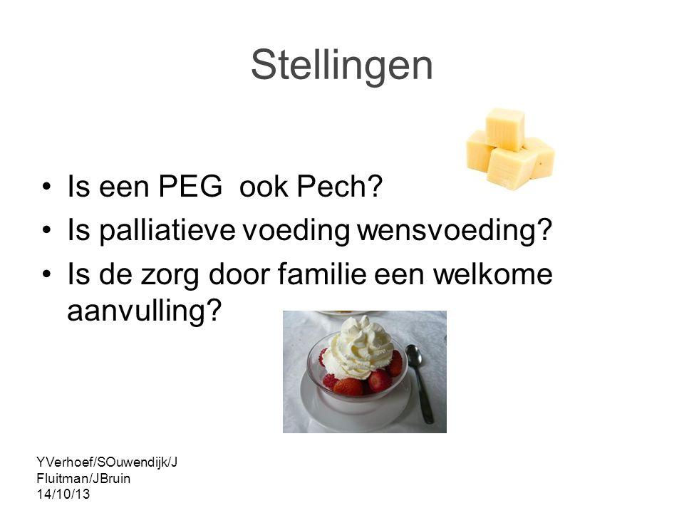Stellingen Is een PEG ook Pech Is palliatieve voeding wensvoeding