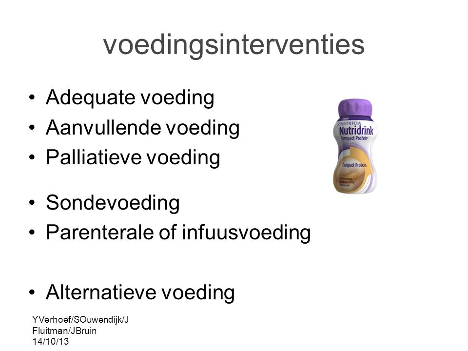 voedingsinterventies