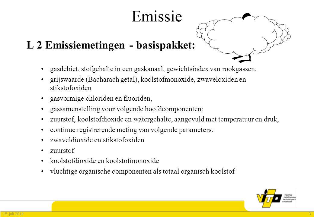 Emissie L 2 Emissiemetingen - basispakket: